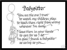 Babysitter Matted Calligraphy -Babysitter of 2 or more