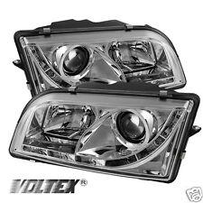1997-2003 VOLVO S40 DRL LED PROJECTOR HEADLIGHTS LIGHTBAR LIGHT LIGHT CHROME