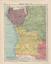 1924 PRINT ~ CENTRAL AFRICA WEST ~ ANGOLIA BELGIAN CONGO