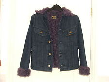 LEE ladies / girls denim sherpa jacket size small / 10 very good condition