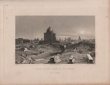 """India/Antiguo Impresiones - """"ruinas South Side of Old Delhi"""" - Capt. R. Elliot (c1840)"""