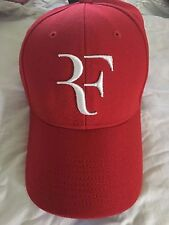 ** RARE Roger Federer Nike Red and White Foundation Cap Hat RF **