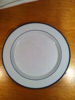 Dansk NR//Japan 10 1/2 Inch Dinner Plate Cobalt Stripes