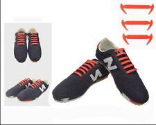 1 Set/12pcs Novelty No Tie Shoelaces Elastic Silicone Shoe Lace Unisex Red