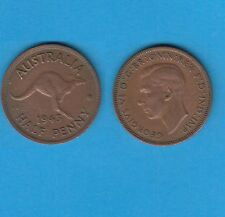 § Australie  Australia  Bronze Coin Georges VI One Half Penny Bronze 1943