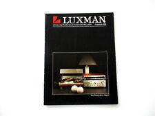 Luxman Katalog Prospekt 1983 Hifi Audio Technik Broschüre HI-FI 80s Stereo
