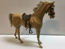 Vintage Johnny West Palomino Comanche Loose w/ Saddle Fighting Eagle Marx