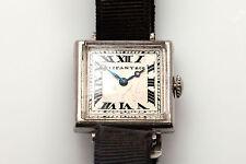 Antique 1930s Platinum Tiffany & Co MEYLAN ART DECO ASSYMETRIC Ladies Watch RARE