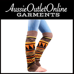 Bohemian Thickening Wool Pile Socks Lady Knee-high Thermal Boot Cover - AOO NSW