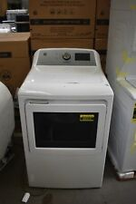 """Ge Gtd84Gcsnws 27"""" White Front-Load Gas Dryer Nob #85312 Clw"""