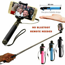 NEW HIGH QUALITY COMPACT MONOPOD SELFIE STICK WIRED FOR IPHONES & ANDRIOD PHONES
