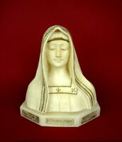 wunderschöne alte Alabaster Büste Heilige Maria Mater Purissima Skulptur 3,6 kg