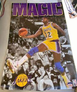 MAGIC JOHNSON Lakers Vintage 1991 Starline Basketball POSTER!