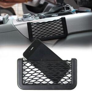 Black Universal Car Seat Side Back Net Bag Phone Holder Organizer Pocket Storage