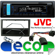Vauxhall Meriva A JVC Radio CD MP3 USB Car Stereo & Steering BLACK Fitting Kit