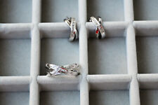 Schmuck-Set 585 Gold Weißgold Ohrringe und Ring mit Brillanten
