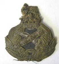 WW2 British Generals Cap Hat Badge Army WWII Kings Crown Aged Condition Bullion