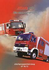 Prospekt Metz Löschgruppenfahrzeug LF 16/12 6 00 2000 Feuerwehr Feuerwehrwagen