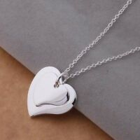 Cute charms Silver Fashion heart Wedding charms pendant 925 necklace jewelry