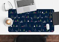 3D Blauer Hintergru H35 Christmas Rutschfest Schreibtisch Matte Tastatur Pad Amy