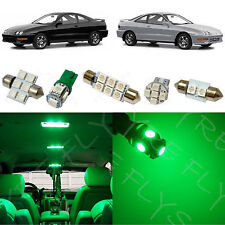 8x Green LED lights interior package kit for 1994-2001 Acura Integra AG1G