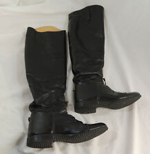DERS Custom Black Riding Boots Girls Sz 4 1/2 M Leather Lace Up