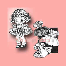 Vintage Little Girl Doll w/ 4 Dresses Pattern
