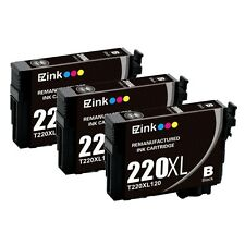 3PK for 220XL 220 XL Black High Yield Ink Cartridges fit Epson Expression XP-424