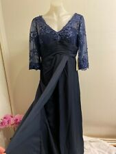 LT LanTing Bride V neck Floor Length Lace Mother of the Bride Dress Embroidery S