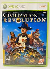 Sid Meier's Civilization Revolution Microsoft Xbox 360, 2008 w/ Manual Free Ship