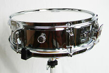 "Piccolo Snare Drum 14"" x 4"" Pure Steel Shell Mirror Chrome Finish NEW"