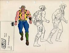 G.I. GI Joe Gnawgahyde & Knife Model Cel Art 80-90's Cartoon 1990 Dic Animation