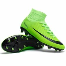 Kids Boy Girls Outdoor Soccer Cleats Shoes TF/FG Ankle Top Football Boots Soccer