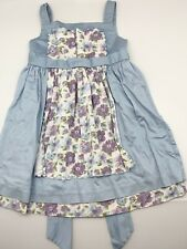 JANIE AND JACK Toddler Girls Ice Cream Social Apron Dress Lt. Blue Size 4T