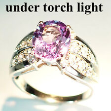 CHANGE BLUE PURPLE SPINEL RING 4.2CT.SAPPHIRE 925 STERLING SILVER SZ 6.75 GIFT
