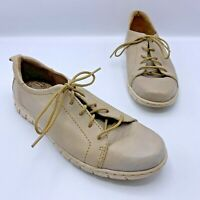 Born D66728 Women Taupe Lace Up Comfort Shoe Size 7.5 EUR 38.5 Pre Owned