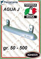"Piombo Fonderia Roma 50-500gr. ""AGUA J"" sgancio rapido traina drifting"