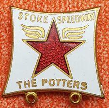 Vintage Enamel Pin Badge Stoke Potters Speedway, by Reeves