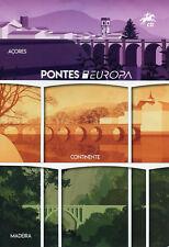 Portugal Madeira Azores 2018 CTO Bridges Europa 3v + 3x 2v M/S Spc Folder Stamps