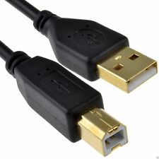 GOLD USB 2.0 High Speed Cable Printer Lead A to B BLACK 2m
