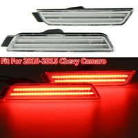 Left & Righ Rear Signal Light LED Side Marker Clear For Chevy Camaro 2010-2015