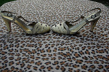 Paco Gil Snakeskin Leather High Heeled Sandals UK 6 EU 39