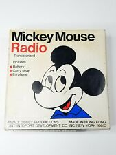 Philgee Mickey Mouse Walt Disney Production Transistor Radio Battery Op Operated