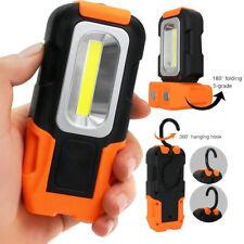 LED Work Light Multifuntion COB Flashlight Magnetic Base Hanging Hook AA