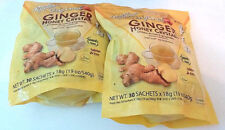 2 pkg Ginger Honey Crystals Instant Tea by Prince of Peace,, 30 sachets x2 = 60