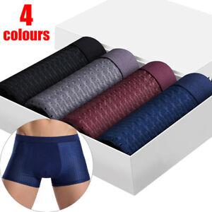 4 PACK For Men BambooWear Underwear Shorts Ice Silk Mesh Boxer Briefs fo Men