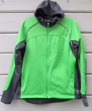Novara Wms XL Blaze Green Gray Hooded Headwind Cycling Micro Fleece Jacket