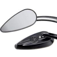 BLACK Skull Teardrop Rear View Mirror for Harley Sportster Dyna Touring Softai