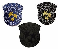 """Patch Set of 3 Resident Evil Stars Racoon Police 3.5"""" Patches"""