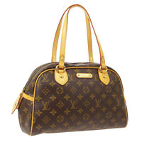 LOUIS VUITTON MONTORGUEIL PM SHOULDER BAG PURSE MONOGRAM M95565 CA0068 02255